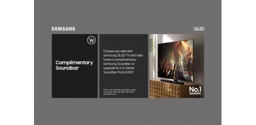 Samsung QLED UHD TV Complimentary Samsung Soundbar Promotion