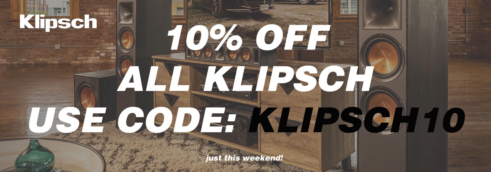 Klipsch 10% off