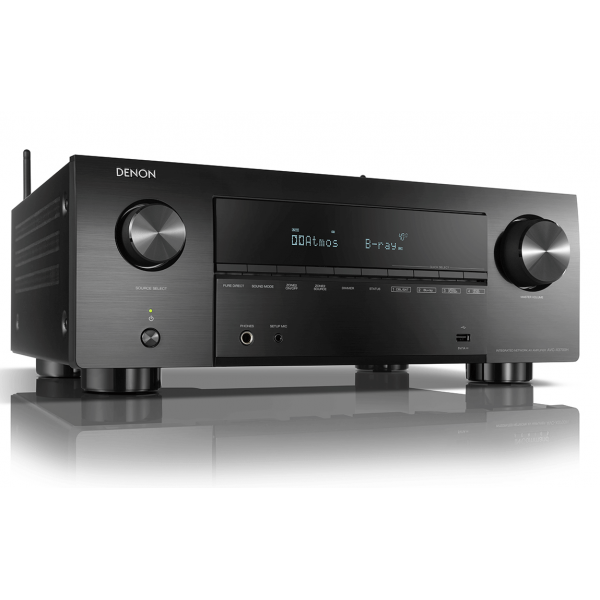 Denon AVC-X3700H 9.2ch 8K AV Amplifier with 3D Audio, HEOS Built-in and Voice Control - Black