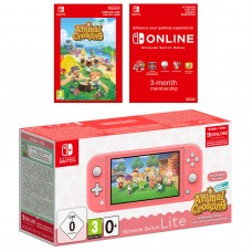 Nintendo Switch Lite (Coral) + Animal Crossing: New Horizons + Nintendo Switch Online (3 Months)