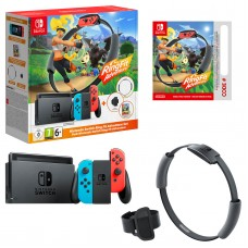 Nintendo Switch Ring Fit Adventure Set (Neon Blue/Neon Red)