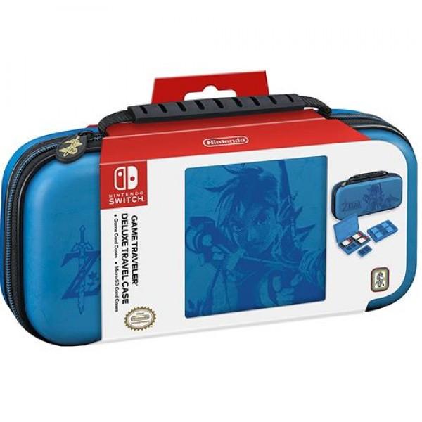 Big Ben Nintendo Switch Deluxe Travel Case - Zelda Link Breath of the Wild - Blue - NNS42