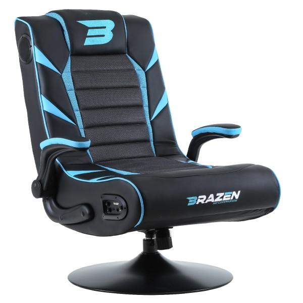 BraZen Panther Elite 2.1 Bluetooth Surround Gaming Chair - Blue