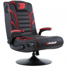 BraZen Panther Elite 2.1 Bluetooth Surround Gaming Chair - Red