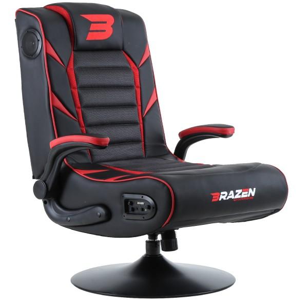 BraZen Panther Elite 2.1 Bluetooth Surround Gaming Chair - Red
