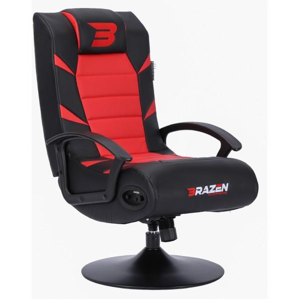 BraZen Pride 2.1 Bluetooth Surround Gaming Chair - Red