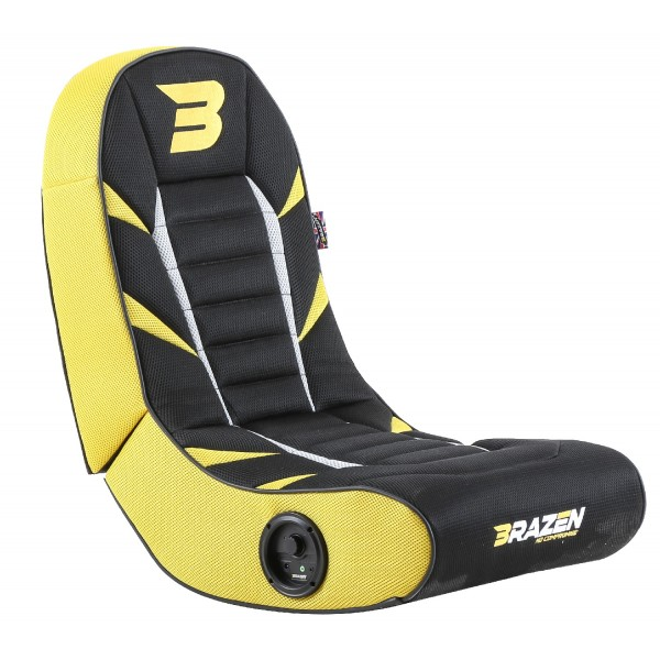 BraZen Python 2.0 Bluetooth Surround Gaming Chair - Yellow