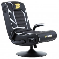 BraZen Panther Elite 2.1 Bluetooth Surround Gaming Chair - White