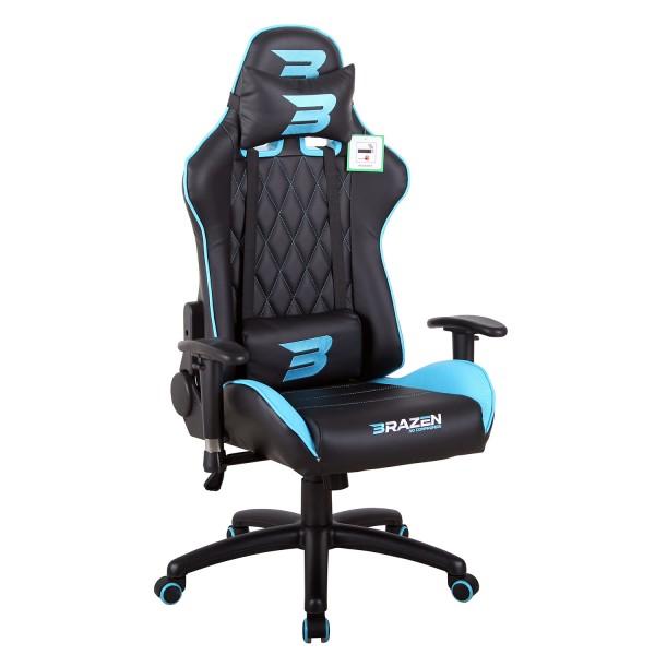 BraZen Phantom Elite Racing PC Gaming Chair - Blue