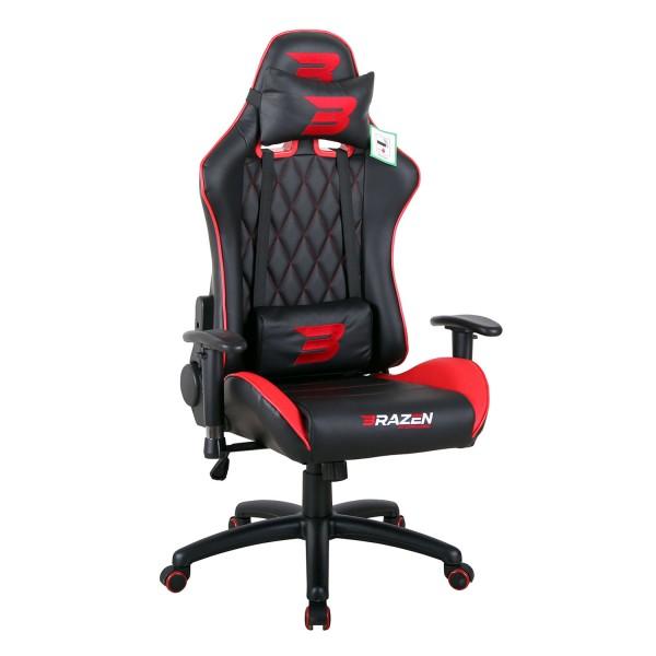 BraZen Phantom Elite Racing PC Gaming Chair - Red