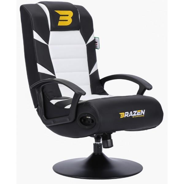 BraZen Pride 2.1 Bluetooth Surround Gaming Chair - White