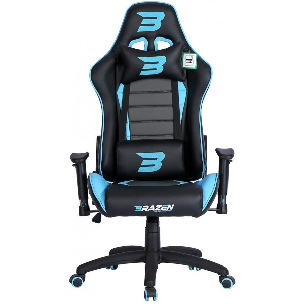 BraZen Sentinel Elite Racing PC Gaming Chair - Blue