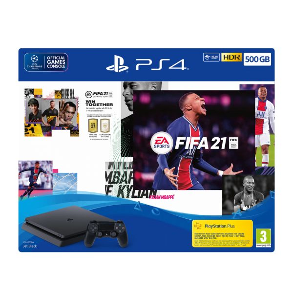 Sony PlayStation 4 PS4 500GB with Fifa 21 Bundle