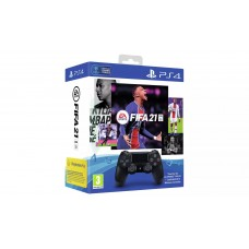 Sony DualShock 4 V2 Controller and FIFA 21 PS4 Game Bundle