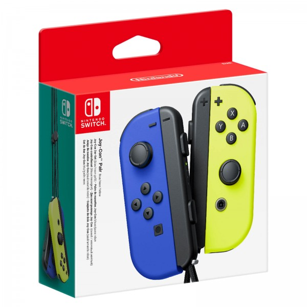 Nintendo Switch Blue Joy-Con (L) and Neon Yellow Joy-Con (R) Controller Set