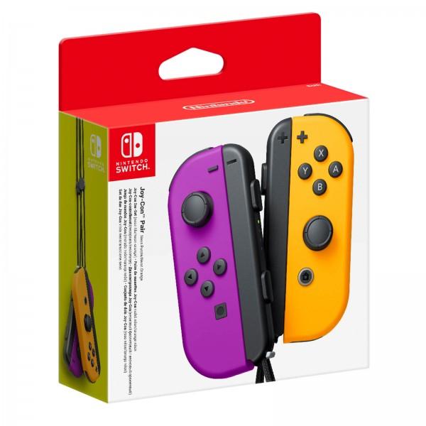 Nintendo Switch Neon Purple Joy-Con (L) and Neon Orange Joy-Con (R) Controller Set