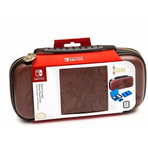 Big Ben Nintendo Switch Deluxe Travel Case - Zelda Link Breath of the Wild - Brown
