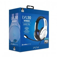 PDP Gaming Playstation 5 LVL50 Wired Headset - White