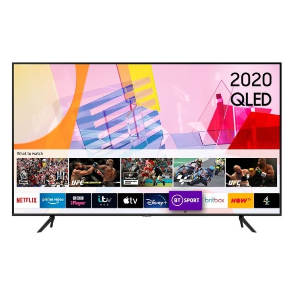 "Samsung QE75Q60T 75"" QLED UHD TV - 2020 Model - 6 Year Protection Plan"