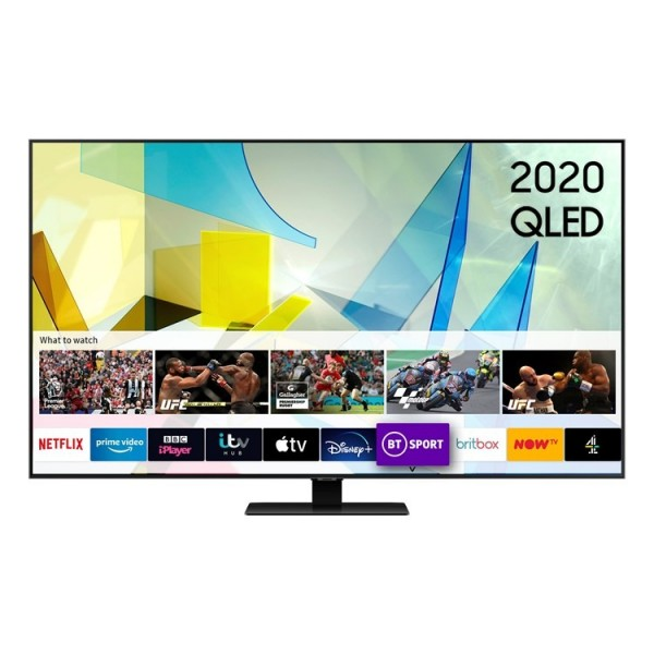 "Samsung QE49Q80T 49"" QLED UHD TV - 2020 Model - 6 Year Protection Plan"