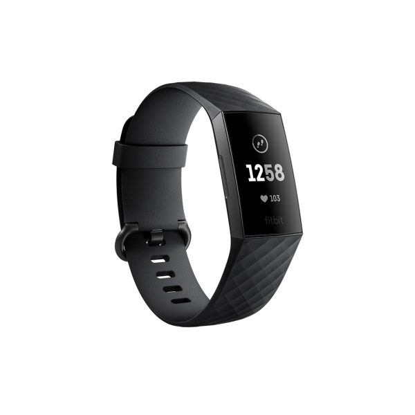 Fitbit Charge 3 Health and Fitness Tracker - Black / Graphite Aluminium