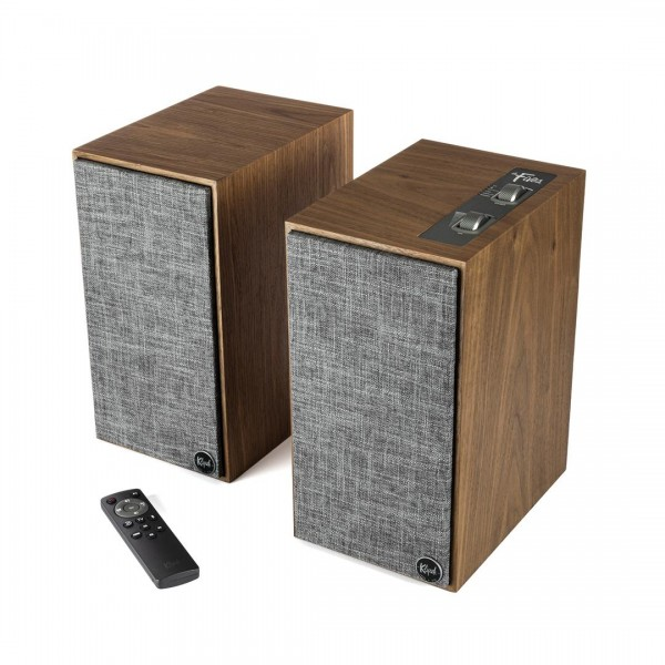 Klipsch The Fives Wireless Active Monitor Speakers with HDMI - Walnut