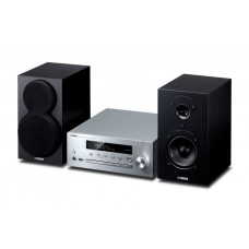 Yamaha MCR-N470D MusicCast Pianocraft HiFi System with Speakers - Silver