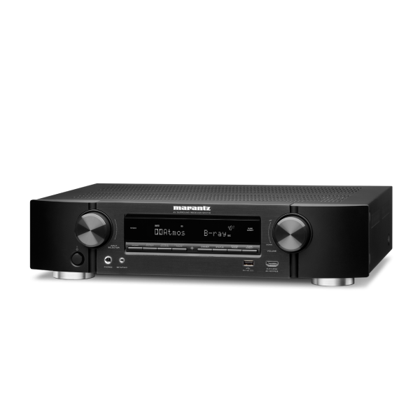 Marantz NR1710 Ultra-Slim 7.2ch AV Receiver with 3D Audio, Music Streaming - Black