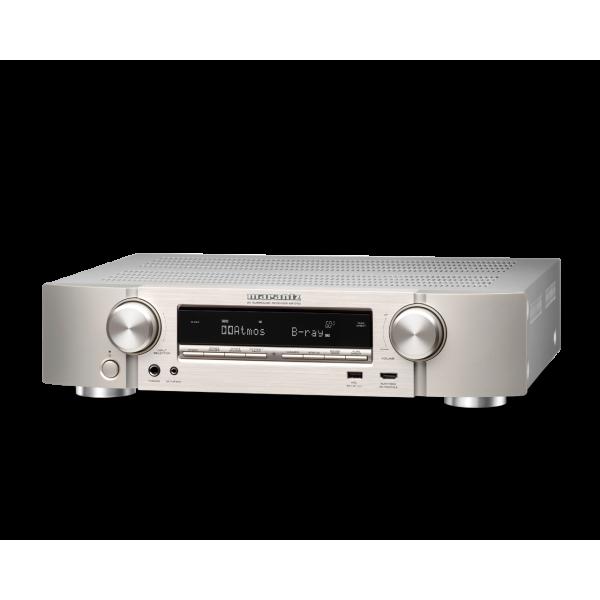 Marantz NR1710 Ultra-Slim 7.2ch AV Receiver with 3D Audio, Music Streaming - Silver