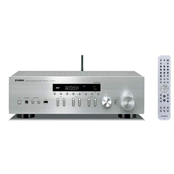 Yamaha R-N402D MusicCast Hi-Fi Receiver with DAB+Tuner-Silver