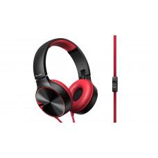 Pioneer SE-MJ722T On-ear Headphones-Red