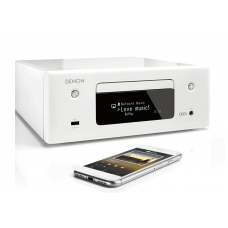 Denon CEOL RCDN10WTE2GB CD Receiver with Heos- White
