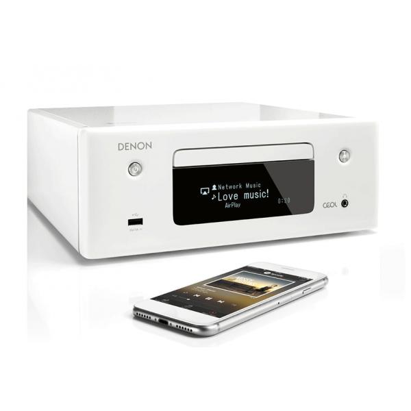 Denon CEOL RCDN10WTE2GB CD Receiver with Heos- White