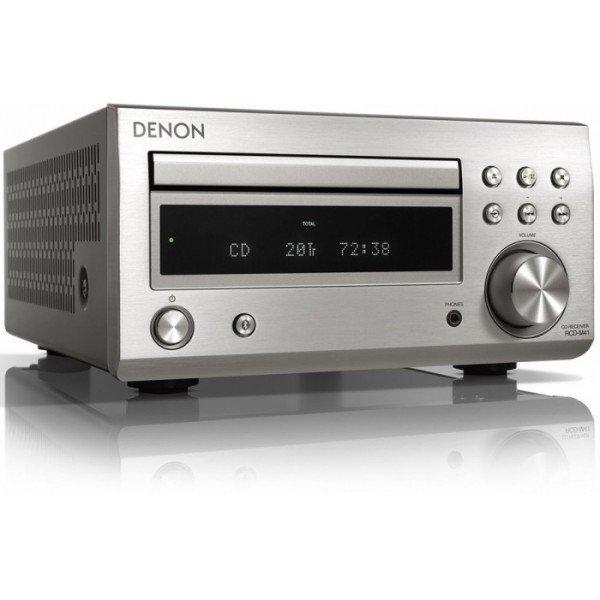 Denon RCD-M41DAB Bluetooth Streaming System-Silver